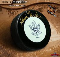 HOWIE MEEKER Signed Toronto Mapleleafs Puck