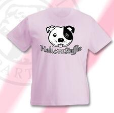Staffordshire Bullterrier Nannydog Kindershirt Staffbull Hello Staffie Staffy