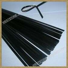 "100pcs wire free twist ties  for bakery cello bags - 5"" Black"