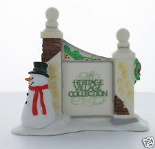 Department 56 Village Sign with Snowman 1989 #55727 Heritage Village   Retired