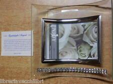 Portafoto in argento cristallo e Swarovski con brillantini ritratto porta foto