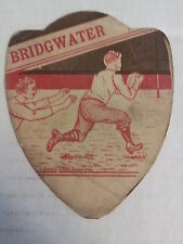 """BRIDGWATER - Baines """"shield"""" RUGBY Trading Card, UK circa 1890s   G-VG condition"""