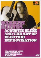 WARREN HAYNES ACOUSTIC SLIDE & THE ART OF ELECTRIC GUITAR IMPROV HOT LICKS DVD