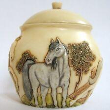 Meadow Dance - Jardinia - Nib - Horse / Pony Trinket Pot - Mps Harmony Kingdom