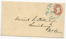 US Star Die Cover Used in CSA Virginia Blue Norfolk CDS April 19, 1861 Ex-Hill