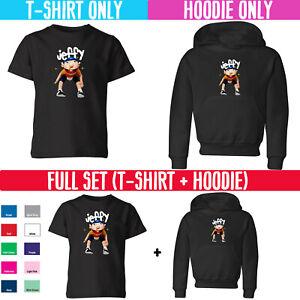 Jeffy Puppet Youtuber Kids T Shirt Hoodie Set Boy Girls Teddy Bear Funny Top Tee