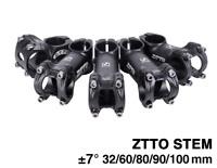 ZTTO Mountain Bike Stem ±7°degree XC AM Road Bicycle Stems 28.6*31.8*32-100mm