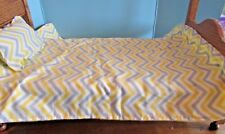 """Yellow Quilt 18"""" doll pillow/comforter blanket for american girl other 18"""" doll"""