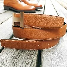 Handmade Reversible belt to fit 32mm Hermes buckles (size 85,90,95,100,105)