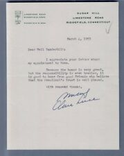 CLARE BOOTHE LUCE / AMERICAN PLAYWRIGHT 1953 Signed letter