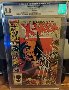 UNCANNY X-MEN #211 CGC 9.8 1ST FULL APPEARANCE OF THE MARAUDERS.