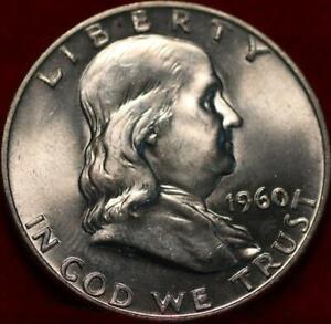 Uncirculated 1960-D Denver Mint Silver Franklin Half