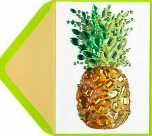 Papyrus Jeweled Pineapple Thank You Greeting Card