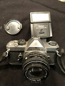 Pentax 35 mm camera MX Vivitar ASAHI 50 Mm Lens Untested