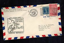 1939 Shediac Canada to Botwood First Flight Cover FFC airmail
