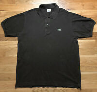 Mens Lacoste Polo Shirt Large/4 Brown Short Sleeve Cotton