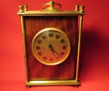 VTG USSR Russian Wooden Bronze Table Clock 1970s EXC!!