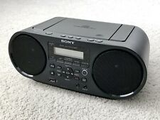 Sony Zs-Rs60Bt Cd Bluetooth Am/Fm Usb Boombox Black For Parts Not Working