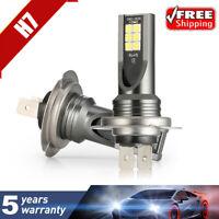 Pair H7 160W LED Fog Light Bulbs Car Driving Lamp DRL 6000K White Light Canbus