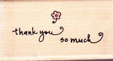 THANK YOU SO MUCH (BG4229) - Wood Mounted Rubber Stamp - Hampton Art