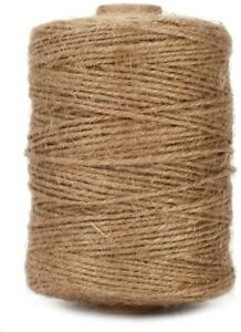 Natural Jute Twine 500FT Twine Rope for Crafts, Gardening Biodegradable