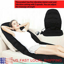 8 Modes Massage Chair Heated Back Seat Massager Cushion Car Home Relax  US