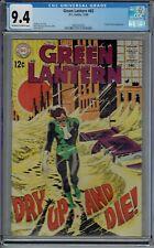 CGC 9.4 GREEN LANTERN #65 DOCTOR POLARIS APP 1968 DC