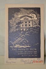 Woodblock THE MINUTE MEN SCHOOL OF MEDICINE UNIVERSITY OF PITTSBURGH UPMC 1990