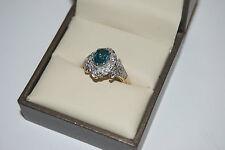 PVP Oferta Topacio Azul y Diamante clúster de lujo Tasación Incl