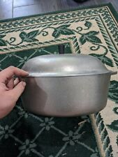 """Vintage Club Aluminum Hammered Roasting Pan with Cover Oval Roaster 15"""""""