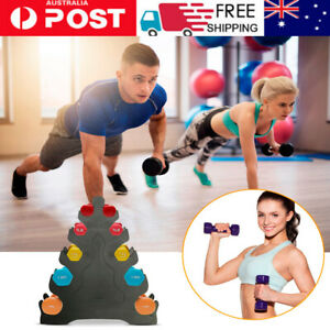 Portable Home 5Tier Dumbbell Holder Home Gym Exercise Weight Tower Durable Stand
