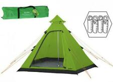 Tipi Tent 4 Person By Summit Green Camping Garden BBQ Waterproof Festivals Fun