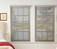 """NEW Perfect Lift 2"""" Cordless Premium Faux Wood Blinds - Driftwood Gray"""