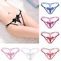 Underwear Butterfly Briefs Sexy Lace G-string Embroidery Pearl Thongs