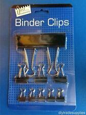 Assorted Foldback Bulldog Binder Clips - Pack 10