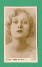 R. & J. HILL LTD. - SCARCE  CINEMA  STARS  CARD  -  DOLORES  COSTELLO  -  1932