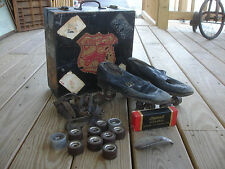 Old Vtg Chicago Roller Skates Leather Size 6 Men's W/Rare Olympia Decal Box