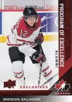 2013 UD TEAM CANADA EXCLUSIVE RED PROGRAM of EXCELLENCE ERROR BRENDAN GALLAGHER