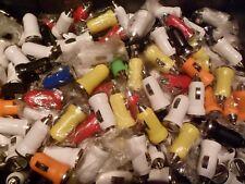 30x USB variamente colorate SINGOLO Proiettile CARICABATTERIE 4 PORTE AUTO ACCENDISIGARI