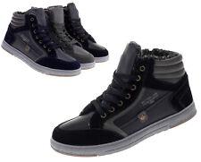 Herren Winter Sneaker High-Top Schuhe Gefütterte Freizeitschuhe 41-46 Neu 18902