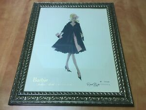 """Robert Best BARBIE Collection Framed Signed Print 1874 of 5000 overall 19"""" x 23"""""""
