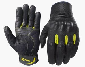 XPRO Motorcycle Leather Gloves Motorbike sport Touring 2 WEEKS PROMOTION