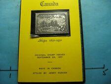 CANADA SHIPS 1851-1951 JERRY PARKER ANTIQUE 999 SILVER BAR STAMP COMMEM #C