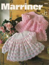 Angel Top Dress Baby Vintage Knitting Pattern Copy 4 Ply