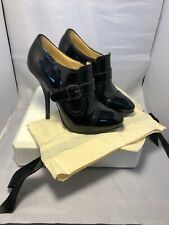 Lanvin Black Patent Leather Ankle Booties Size36.5 Uk 3.5 US6.5