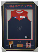 Jim Stynes Melbourne F.C. Hand Signed Jumper Framed with Photos Brownlow + COA