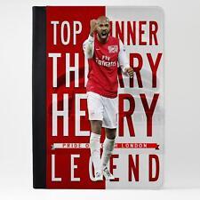 Thierry Henry Arsenal iPad Funda piel cubierta de la tableta de fútbol Legend LG75