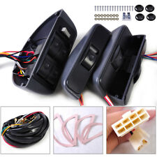 Universal 12V Power Window Lock Kit 4 Rocker Switch Fit for 4 Doors Car