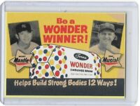 Mickey Mantle Stan Musial Wonder Bread Advertising Baseball Card