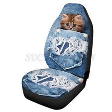 1pcs Universal Car Truck Van SUV Seat Cover Front Fabric Protector Cat Printed